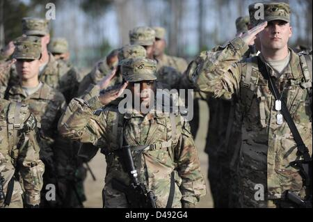 Feb. 26, 2013 - Fort Stewart, GEORGIA, UNITED STATES - Members of the US Army 4th Infantry Brigade Combat Team from - Stock Photo