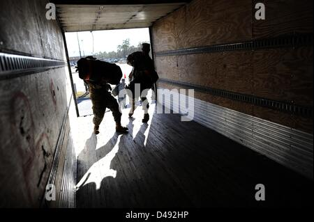Feb. 26, 2013 - Fort Stewart, Georgia, U.S. - Members of the US Army 4th Infantry Brigade Combat Team from the 3rd - Stock Photo