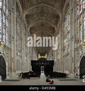 king's college chapel, cambridge 1446-1515. - Stock Photo