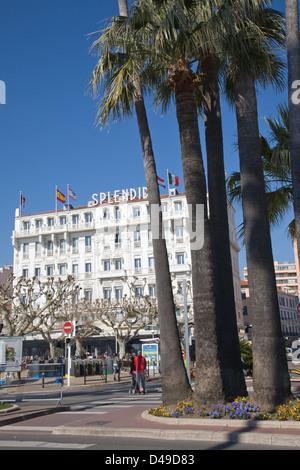 Hotel Splendid, Cannes, France - Stock Photo