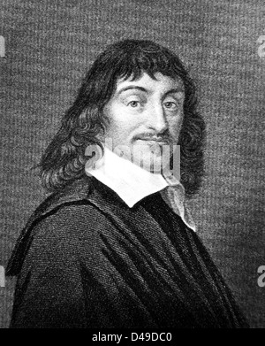 Rene Descartes, French philosopher, mathematician, and writer - Stock Photo