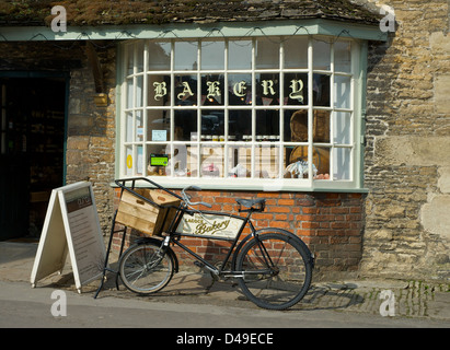Lacock Bakery in the historic village of Lacock, Wiltshire, England UK - Stock Photo