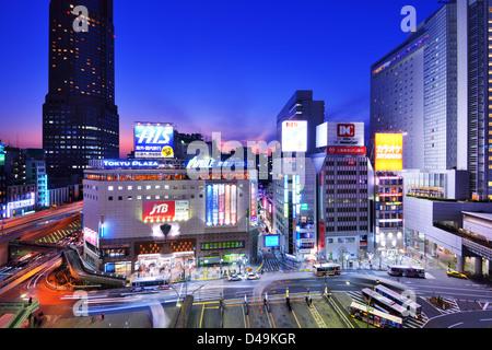 Shibuya, Tokyo, Japan cityscape. - Stock Photo