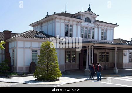 Japan National Railway station in Nikko designed by American architect Frank Lloyd Wright, Tochigi, Japan - Stock Photo