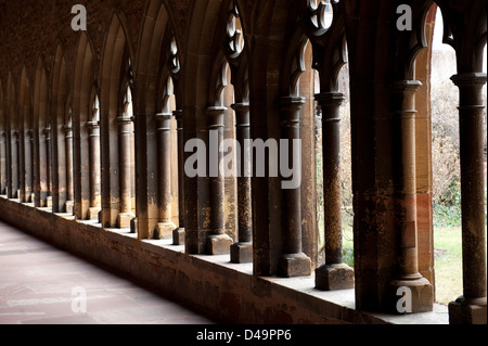 Colmar, France, the cloister of the Musee d'Unterlinden - Stock Photo