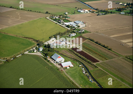Farms and fields, countryside of Richmond, BC, Canada - Stock Photo