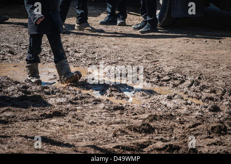 Lancaster, Pennsylvania, US. 9th March, 2013. A 'mud sale' is held in Lancaster, Pennsylvania. County annual Mud - Stock Photo
