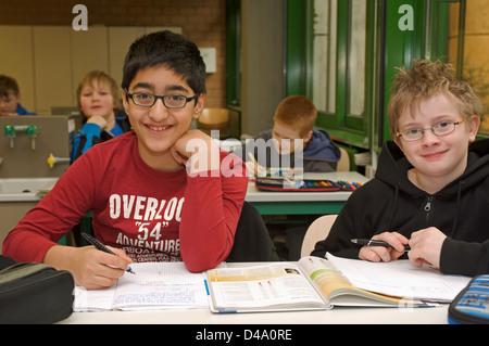 School children in classroom Germany - Stock Photo