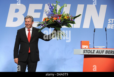 Berlin, Germany, the governing mayor Klaus Wowereit, SPD, at the state party - Stock Photo