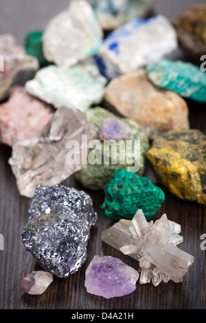 various minerals - Stock Photo