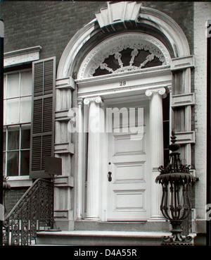 Doorway: Tredwell House, 29 East 4th Street, Manhattan. - Stock Photo