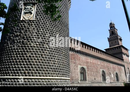 Castello Sforzesco Milan - Italy - Stock Photo