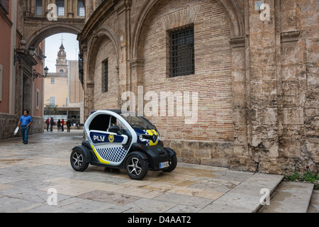 Renault Twizy Electric Police Car - Stock Photo