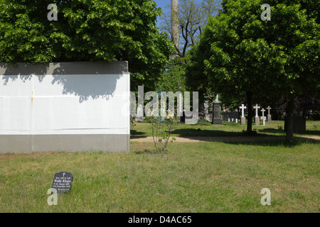 Berlin, Germany, on the tombs Invalidenfriedhof - Stock Photo