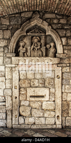 Detail of grand gate of old town of Kotor, Montenegro. - Stock Photo