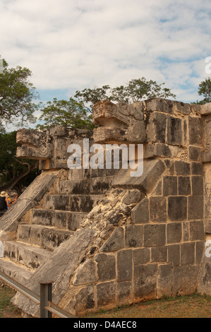 Platform of Venus, Chichen Itza, Mexico - Stock Photo