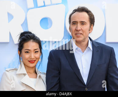 New York, USA. 10th March 2013. Nicholas Cage attends the world premiere of 'The Croods' at AMC Loews Lincoln Square. - Stock Photo