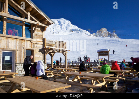 Aux Enfants Terribles Restaurant, Peisey-Vallandry, Les Arcs, Savoie, France, Europe - Stock Photo