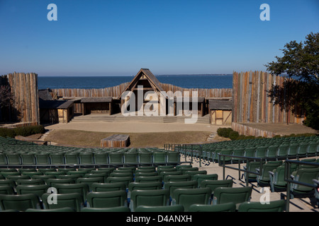 Waterside Theater at Fort Raleigh National Historic Site on Roanoke Island in North Carolina - Stock Photo