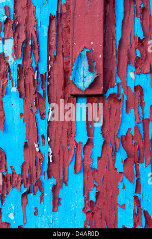 Weathered paint chipped and pealing. - Stock Photo