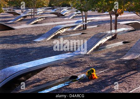 911 Memorial to Victims of Pentagon Attack in Arlington Virginia in the Washington DC - Stock Photo