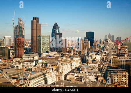 City of London view from St. Paul`s Cathedral. - Stock Photo