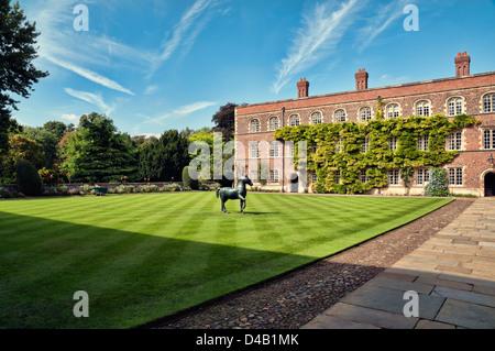 First Court, Jesus College, Cambridge. - Stock Photo