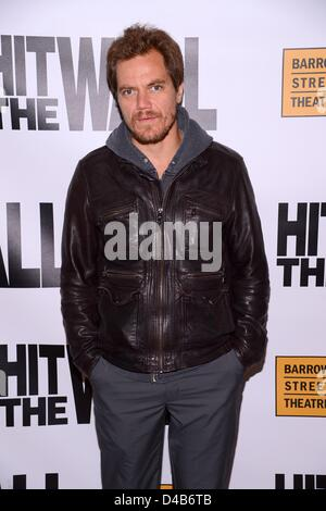 New York, USA. 10th March 2013. Michael Shannon at arrivals for HIT THE WALL Opening Night Celebrates 10th Anniversary - Stock Photo