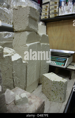 Halva on Sale, Jerusalem old City Market, Israel - Stock Photo