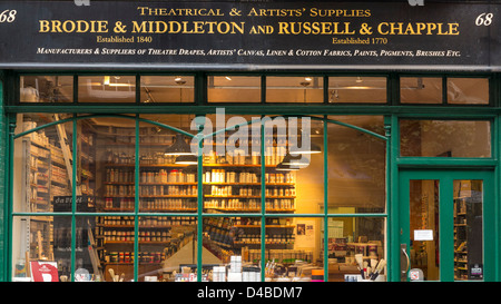 Theatre and Artists Supplies shop in Drury Lane, London, England - Stock Photo