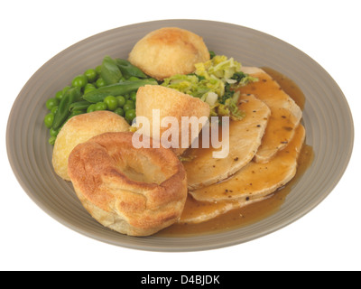 Roast Pork with Vegetables - Stock Photo