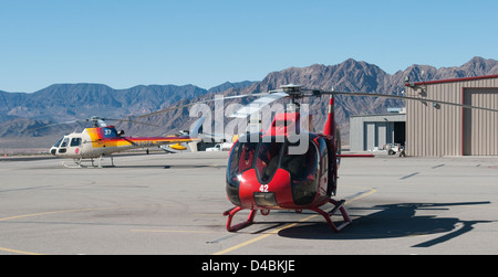 Helicopter Rides Grand Canyon - Stock Photo