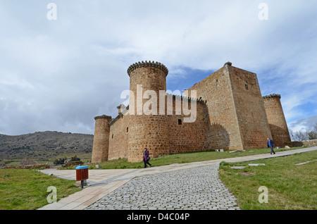 Valdecorneja Castle, from XII-XIV Century, El Barco de Avila, Spain. - Stock Photo