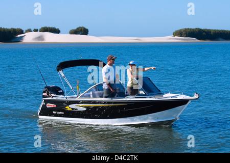 Recreational fishing Gold Coast Queensland Australia - Stock Photo