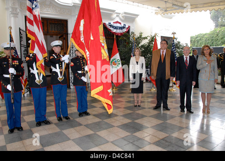U.S. Marine Corps Color Guard Present the Colors - Stock Photo