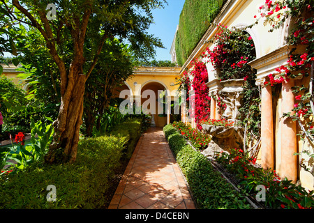 Villa Ephrussi de Rothschild, Saint Jean, Cap Ferrat, Cote d'Azur, Provence, France, Europe - Stock Photo