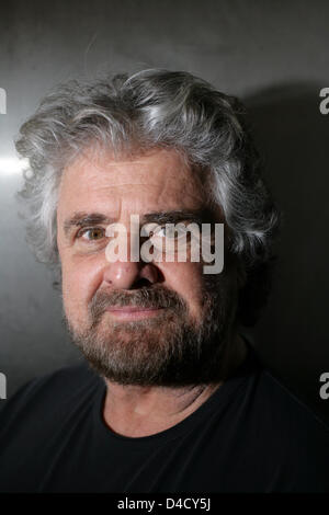 Italian cabaret artist Beppe Grillo pictured at a reading within the scope of the literature festival 'Lit.Cologne' - Stock Photo