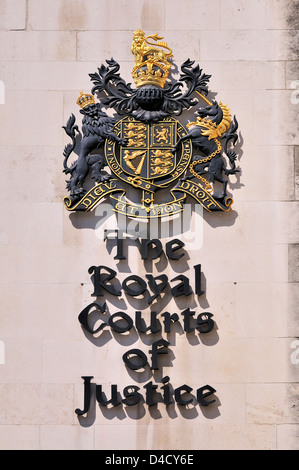 London, England, UK. Royal Courts of Justice in the Strand - Stock Photo