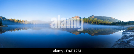 Prebersee at sunrise, Lungau, Salzburg State, Austria - Stock Photo