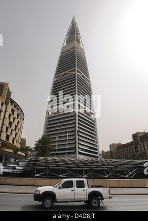 The picture shows 267 metres high Al Faisaliyah Center, built by famous architect Norman Foster in Riyadh, Saudi - Stock Photo