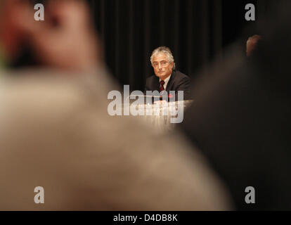 Former Deutsche Telekom CEO Ron Sommer is pictured prior to testifying as a witness during the Telekom trial before - Stock Photo