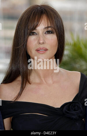 Italian actress Monica Bellucci poses for photographers before the start of the press conference for the film 'Une - Stock Photo