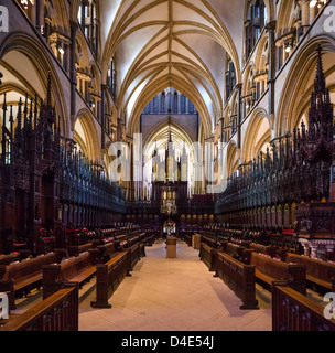 St Hugh's Choir in Lincoln Cathedral, Lincoln, Lincolnshire, East Midlands, UK - Stock Photo