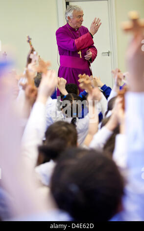 London, UK. March 12, 2013. Archbishop Vincent Nichols, the head of the Roman Catholic Church in England and Wales, - Stock Photo