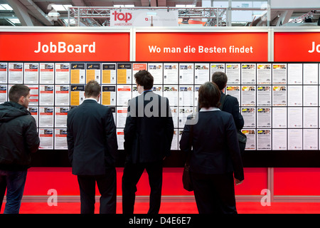 Hannover, Germany, Job Market at the industrial fair Hannover