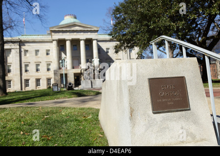 State Capitol on Union Square, Raleigh, North Carolina, USA - Stock Photo