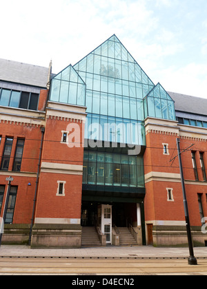 The Crown Court at Manchester Minshull Street, Manchester UK - Stock Photo