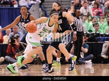 March 12, 2013 - Hartford, CT, USA - Tuesday March 12, 2013: Notre Dame Fighting Irish guard Kayla McBride (21) - Stock Photo