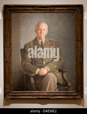 George C Marshall portrait by Thomas E Stephens, 1949 - Stock Photo