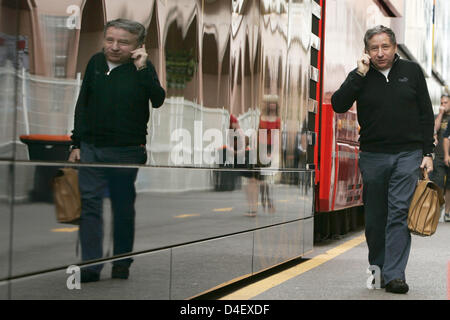 French former Scuderia Ferrari CEO Jean Todt in Monte Carlo, Monaco, 23 May 2008. The Formula 1 Grand Prix of Monaco - Stock Photo